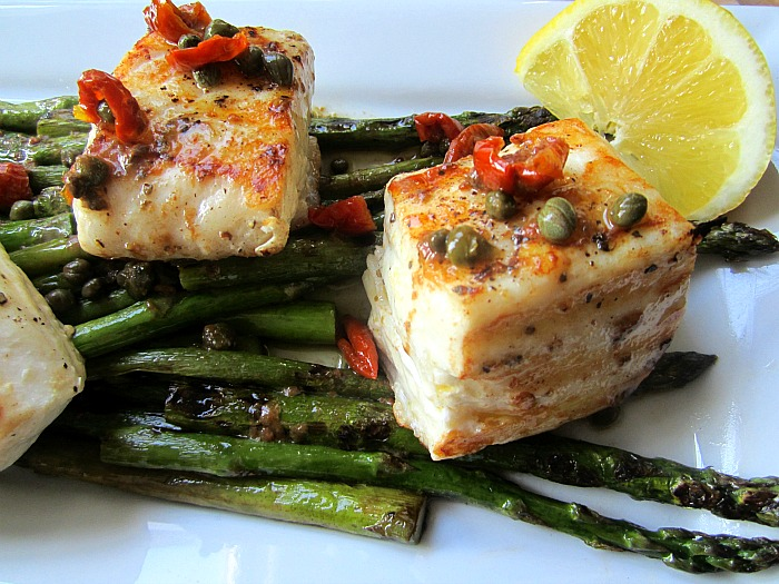 Halibut With Lemon, Butter, Caper And Dill Sauce Recipe — Dishmaps