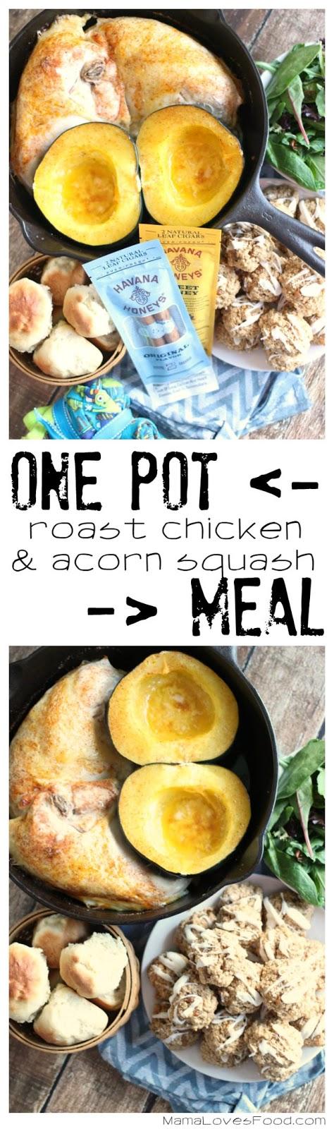 One Pot Roast Chicken and Acorn Squash Recipe