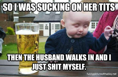 Sucking Funny Baby Husband Meme