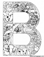 animal prints more zoo activities this site has beautiful alphabet coloring pages interesting and detailed enough for older children