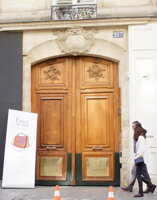 Doors to 217 rue Saint Honore