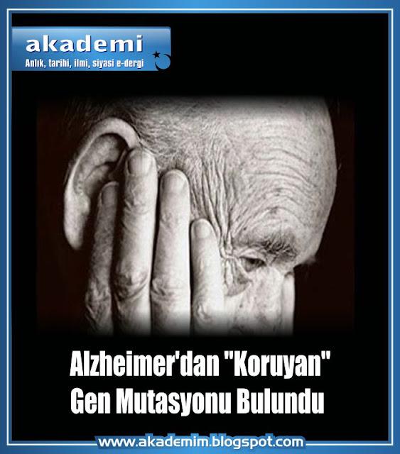 Alzheimer'dan Koruyan Gen Mutasyonu Bulundu