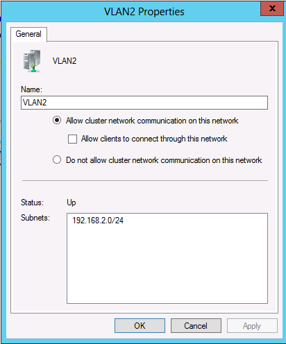 making sure and allow clients to connect through this network interface is on windows server 2012