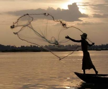 Weltanschauung the lord often taught with parables for Throw nets for fishing