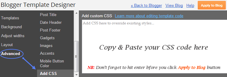 how to add inline style css