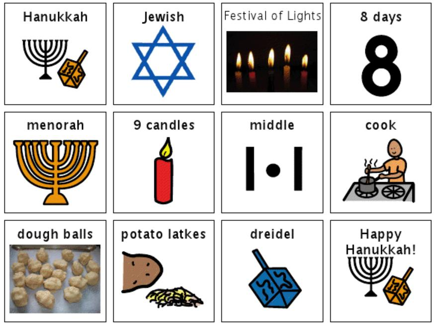 Chapel Hill Snippets Hanukkah Book And Icons