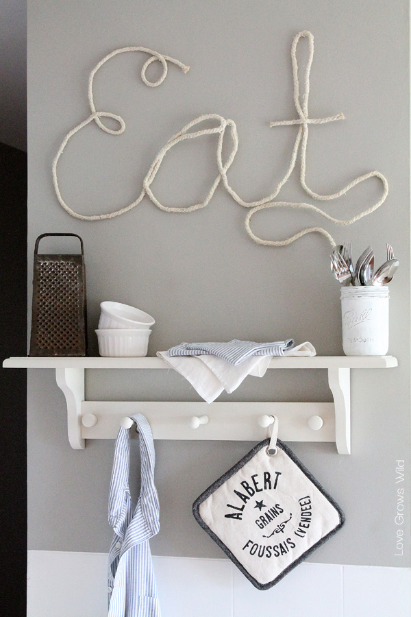 how to make rope letters for fun diy home decor tutorial at lovegrowswildcom