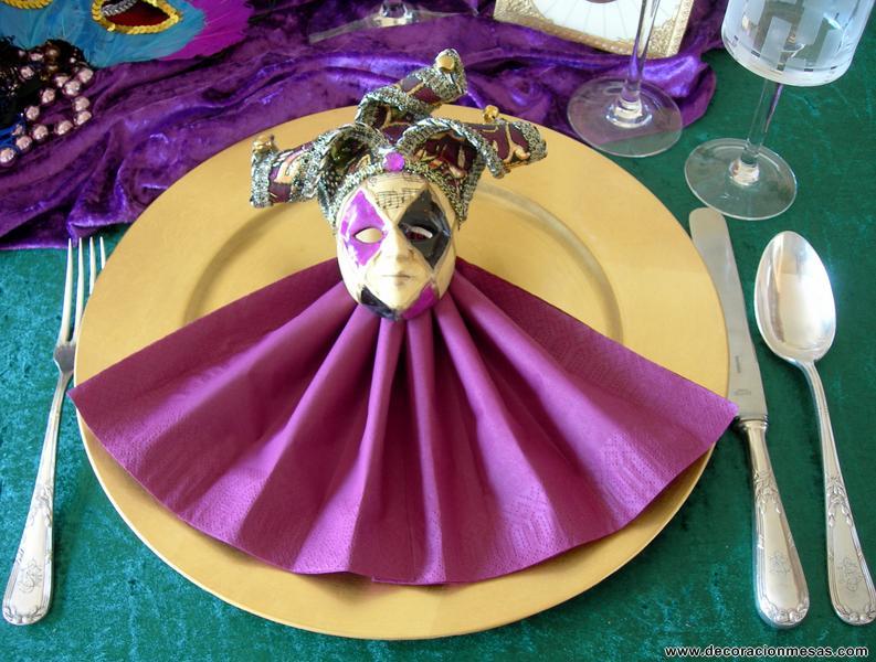 Decoracion de mesas mesa carnaval veneciano for Decoracion para carnaval