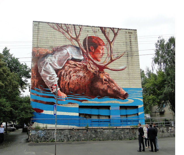 Our friend Fintan Magee is currently in Ukraine where he was flown over to work his magic on a building located on the streets of Kiev.
