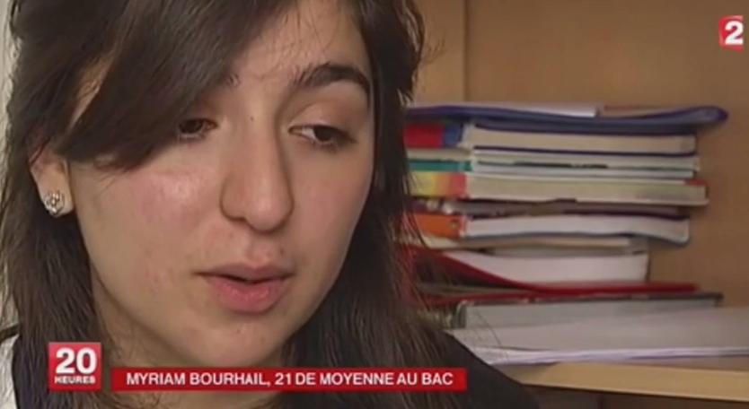 تقرير من القناة الثانية الفرنسية حول المغربية الحاصلة على أعلى معدل بفرنسا