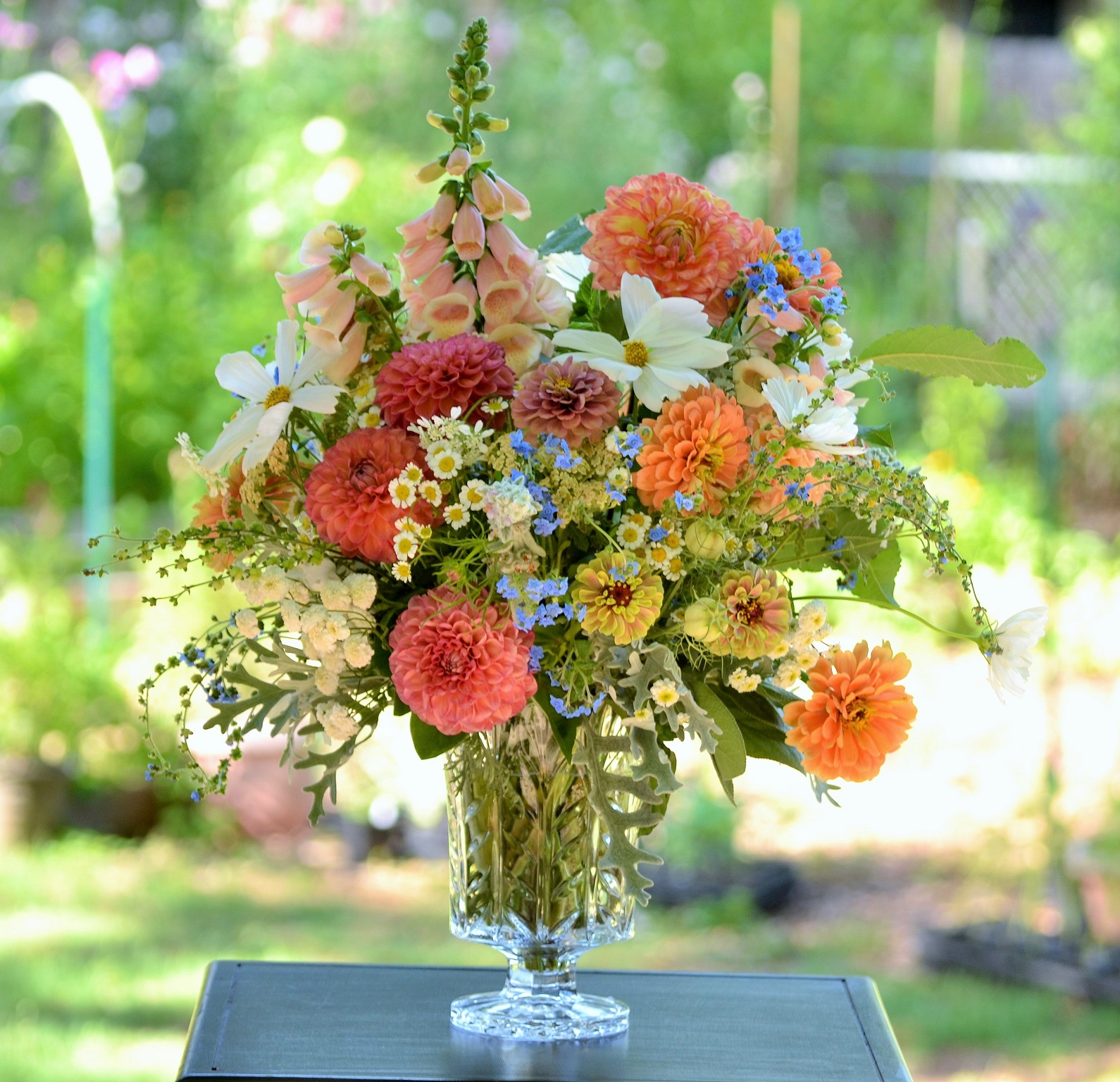 Wedding Flowers from Springwell Garden Wedding Flowers in Peach