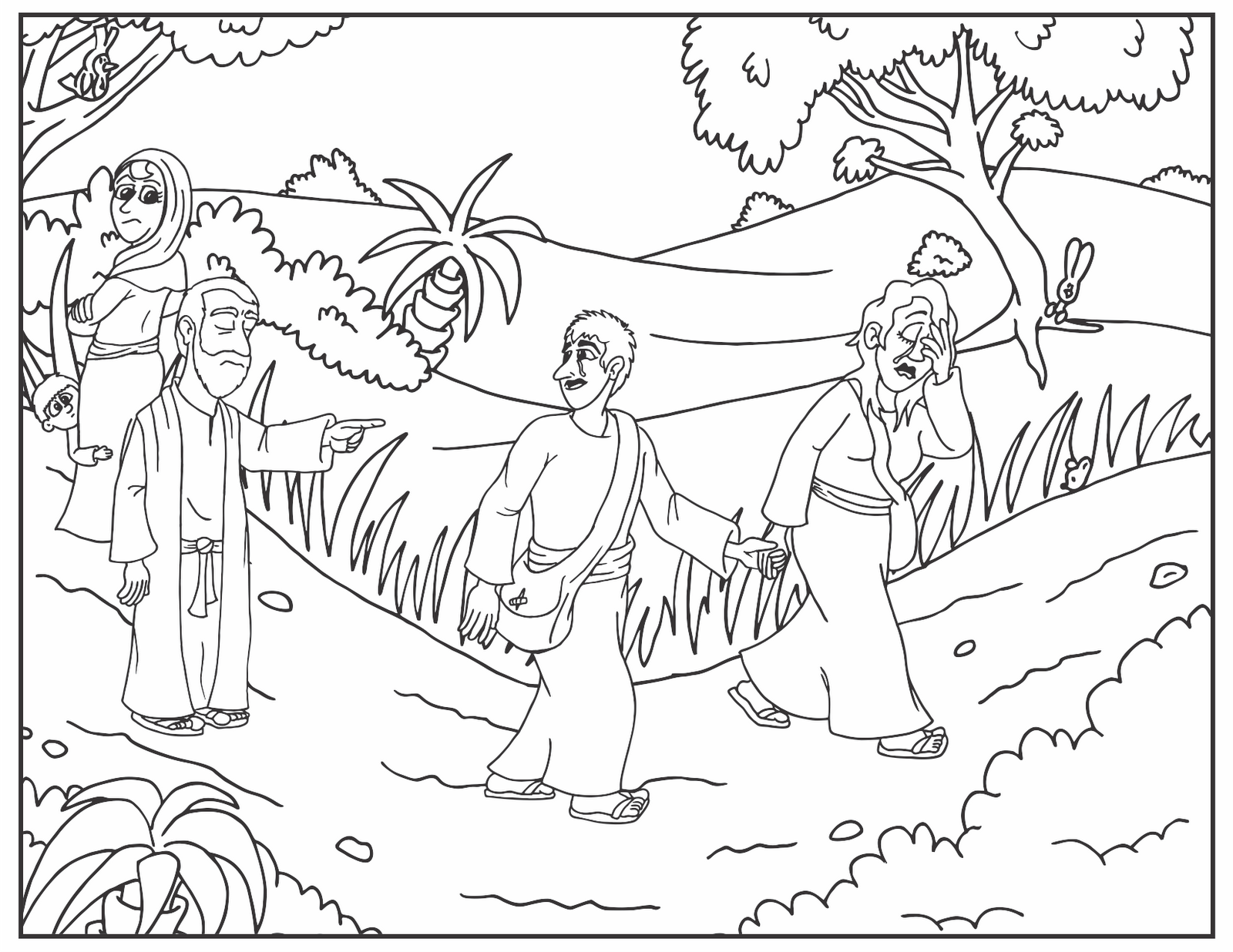 Free Coloring Pages Of Sarah Abraham And Isaac Abraham And Isaac Coloring Page