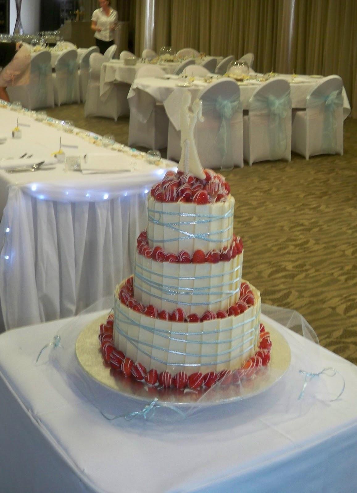 aqua blue ribbon on white chocolate plate / shard wedding cake & aqua blue ribbon on white chocolate plate / shard wedding cake ...