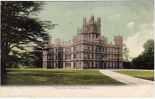 Vintage postcard of Highclere Castle (aka Downton Abbey)
