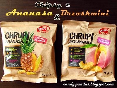 Chipsy z ananasa i brzoskwini - Crispy natural