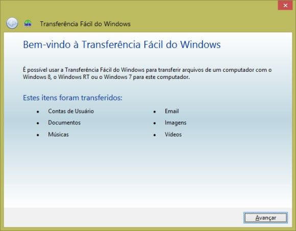Transferência Fácil do Windows - 580x424