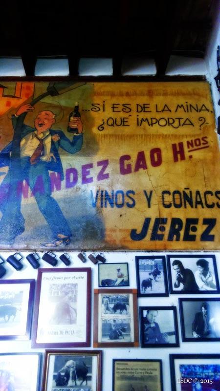 Cartel publicitario en el Tabanco San Pablo