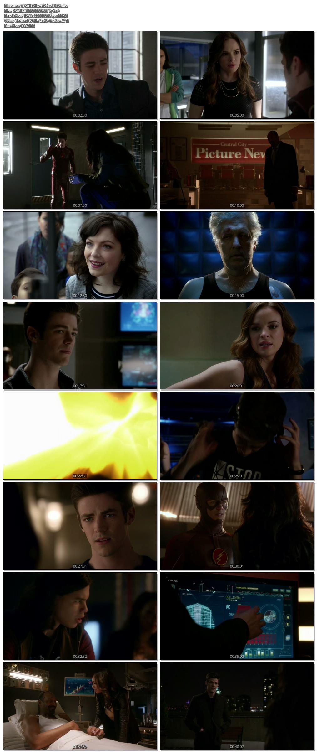 Screenshots Of Hindi Dubbed Show The Flash 2015 Season 01 Episode 21 300MB 720P HD