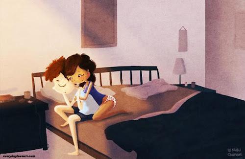 O amor está nos pequenos gestos   Novas ilustrações mostram que o amor verdadeiro pode ser muito mais simples