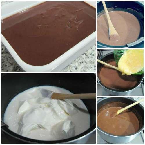 Paso a paso helado de chocolate y cookies