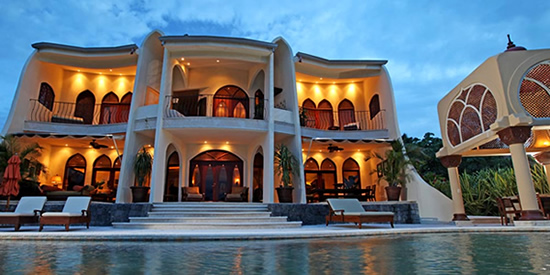 Moroccan style luxury home in Costa Rica