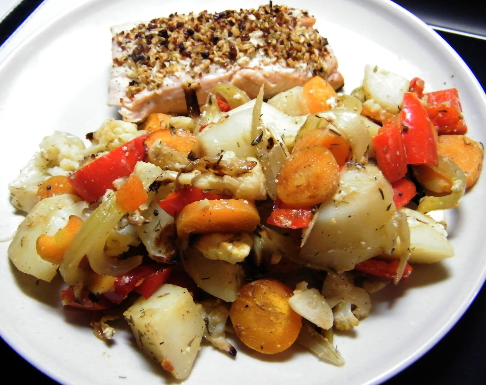 Comer rico y sano: Patatas y verduras al horno - photo#43