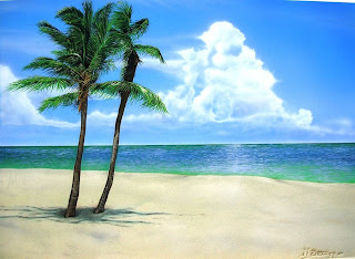 airbrush beach scenery