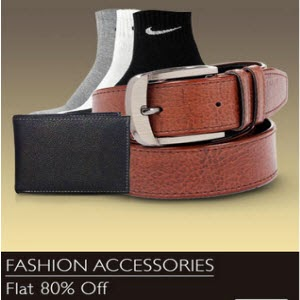 Snapdeal: Buy Fashion Accessories Minimum 80% off and 5% off from Rs. 126