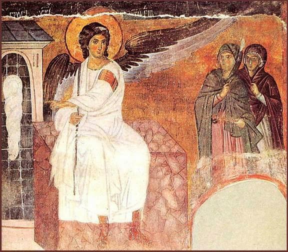 Белый Ангел. Фреска из Вознесенского храма монастыря Милешева. 13 век. Сербия
