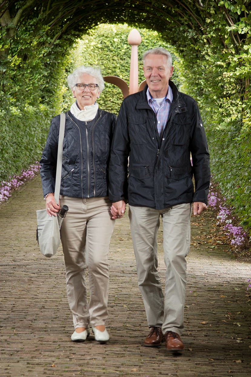 my parents in the gardens of Castle Muiderslot