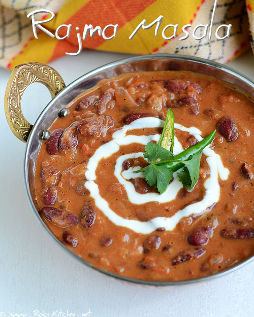 Rajma masala recipe (Red kidney beans curry) - Raks Kitchen