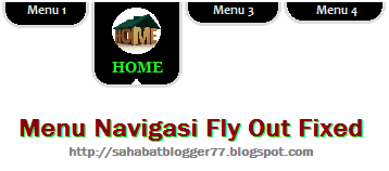 Menu fly out image