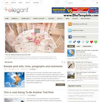 Elegant blog template. template image slider blog. magazine blogger template style