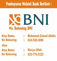 Pembayaran Melalui Bank Berikut :