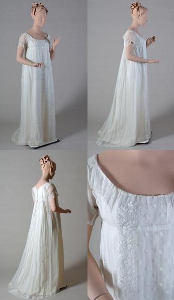 Jane austen today muslin gown regency fashion for 1800 style wedding dresses