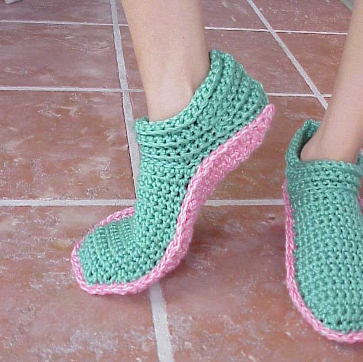 Crochet Slippers : Kriskrafter: New Crochet Slipper Pattern! Options