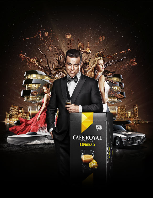 Robbie Williams is Café Royal's The Secret Agent