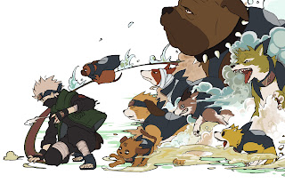 Hatake Kakashi Anime Summon Dogs HD Wallpaper Desktop Background