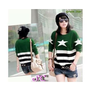 grosir baju rajut model green star