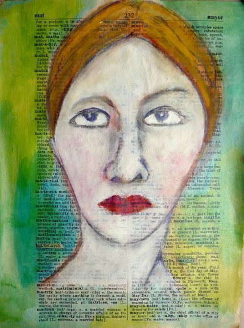 Whoopidooings: Carmen Wing - Lynne Hoppe inspired face.