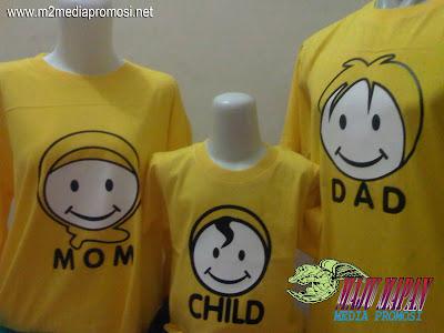 Pembuatan Kaos Couple Keluarga