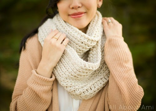 free crochet pattern knit look cowl