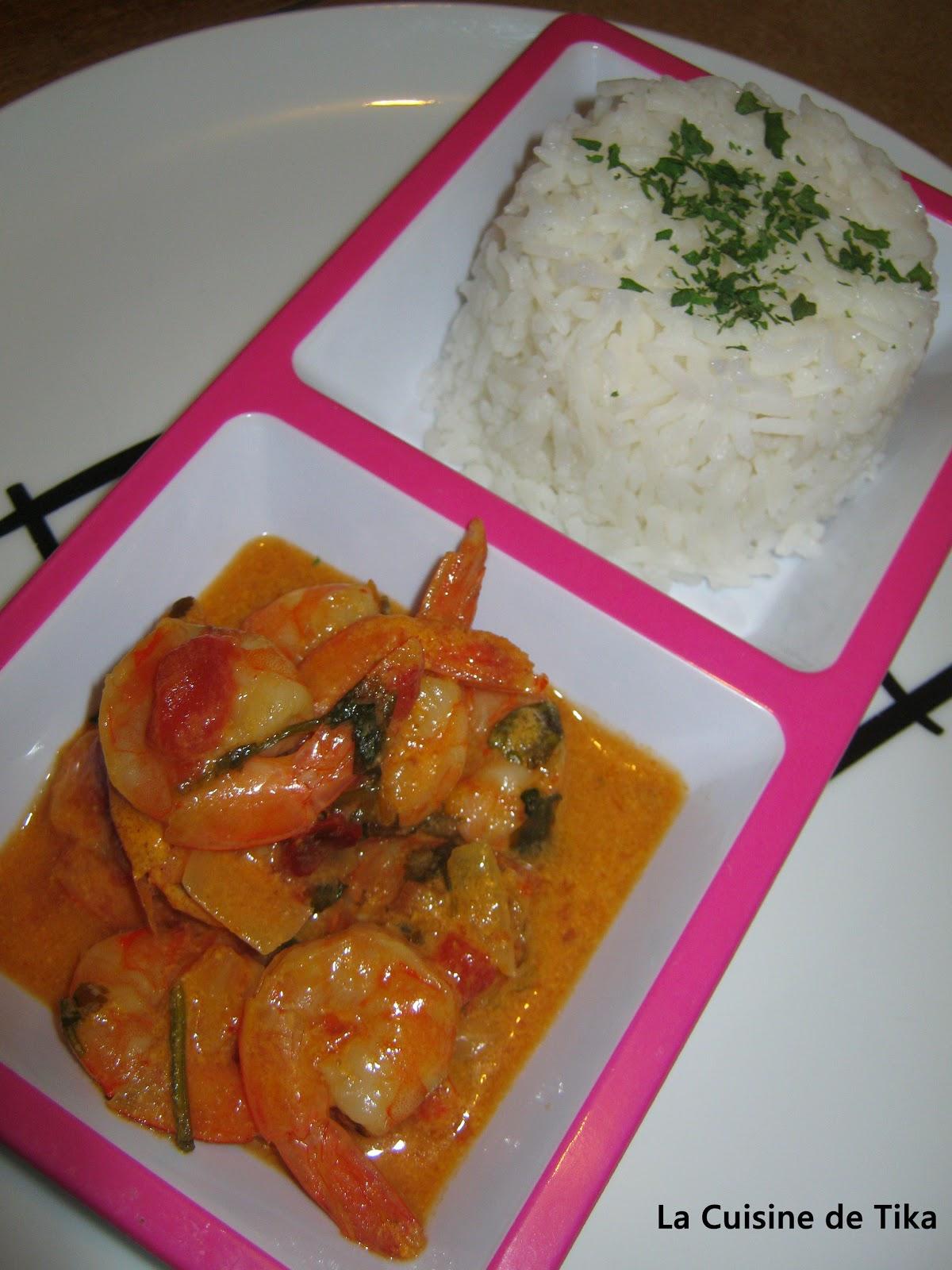 La cuisine de tika crevettes coco curry - Journal femmes cuisine ...