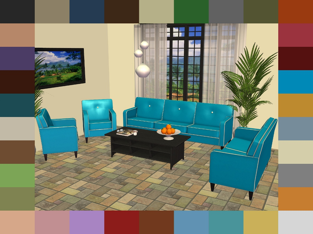 Items Used In My Screenshots Blue Suede Completer Set By MsBarrows, Pocciu0027s  DewDrop Lamp Recolours By Mustluvcatz, Contempo Curtain By HugeLunatic, ...