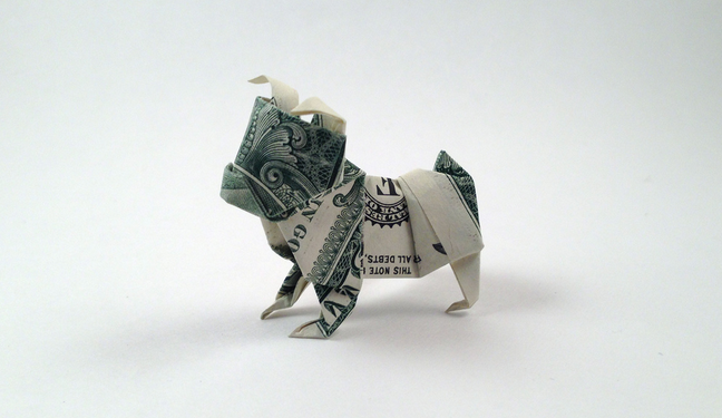 How To Make An Origami Dollar Bulldog Craftsonfire