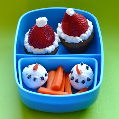 Snowman Donut Snacks & Strawberry Santa Hats