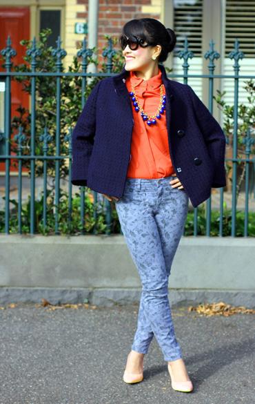 J Brand Mid Rise Capri Jeans Heaven Mini Floral