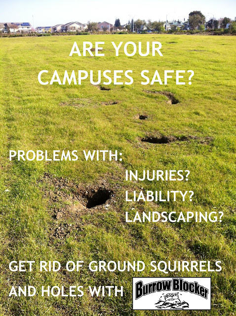 Fix fields - get rid of ground squirrels & hole with the Burrow Blocker