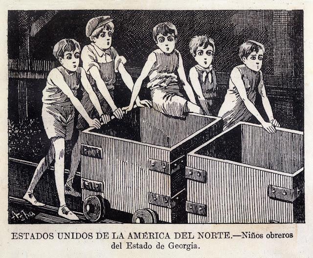 niños mineros, Estados Unidos