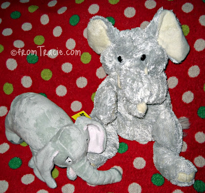 Stuffed Elephant Smells Something